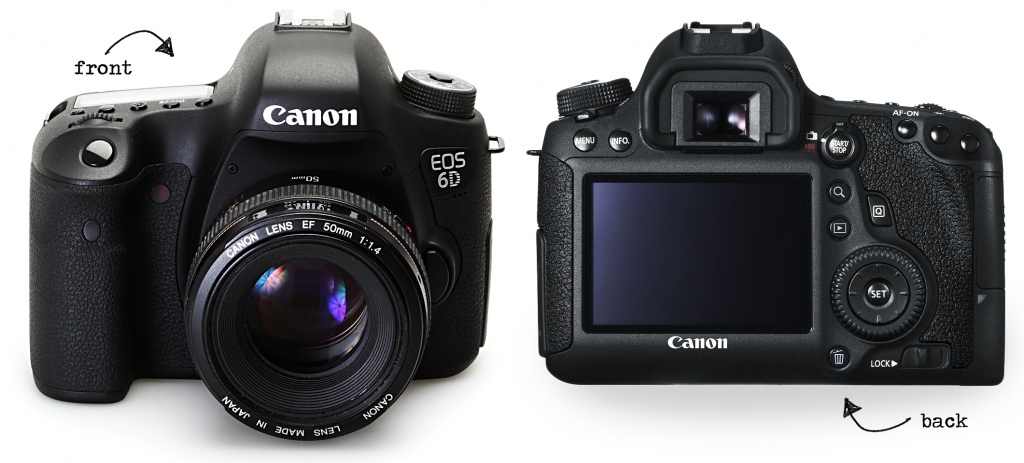 Canon 6D front and back